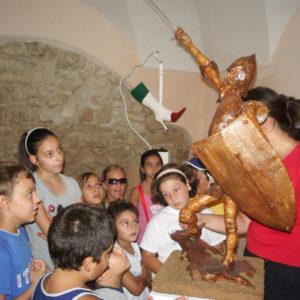 Visite guidate per bambini alla mostra d'arte di sedici artisti in occasione dei centocinquant'anni dell'Unità d'Italia a cura di Daniela Madonna-Laboratorio ArtiBus