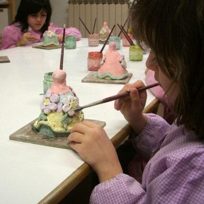 Corsi d'arte per bambini di decorazione ceramica, Laboratorio ArtiBus Vasto