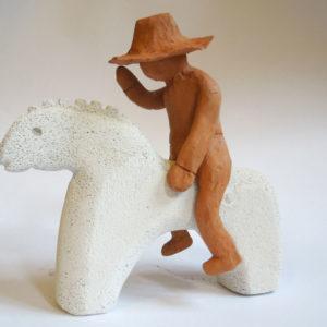 Michele, 11 anni - siporex e terracotta