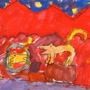 """"""" Il circo""""  (Chiara, 5 anni - tempera su carta)"""