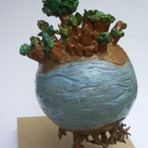 Francesca, 11 anni - terracotta policroma