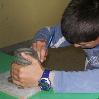 scuola, argilla, ceramica, ragazzi, laboratorio