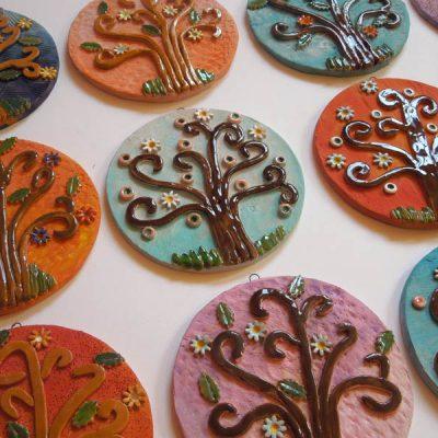 Albero della vita in ceramica, bomboniera per la Prima Comunione