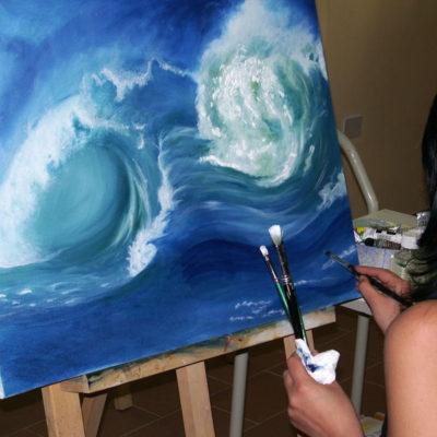 Corso di pittura ad olio per adulti a cura di Paolo Dongu, Laboratorio ArtiBus Vasto (CH)