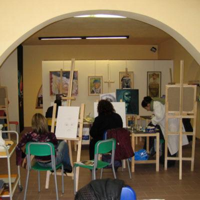 Gruppo del corso di pittura ad olio per adulti, Laboratorio ArtiBus Vasto (CH)