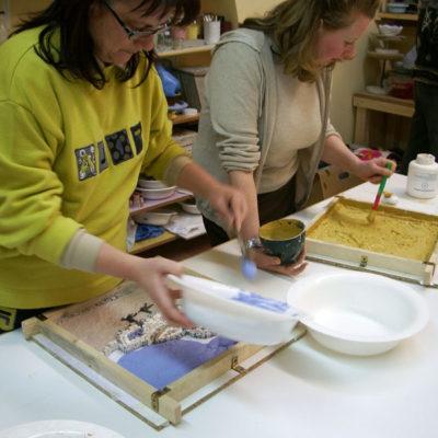 Corso di mosaico per adulti, Laboratorio ArtiBus Vasto (CH)