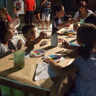 bambini, laboratori, vasto, estate, artibus, estemporanea, pittura