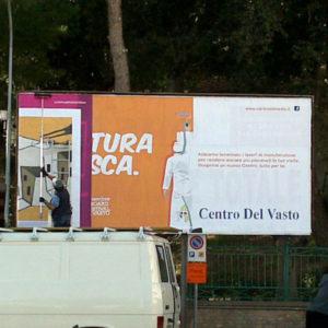 billboard, vasto, daniela madonna, arte di strada