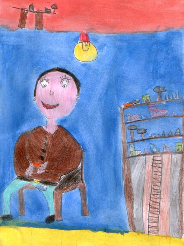 calendario, disegno, bambini, mestieri, vasto, artibus