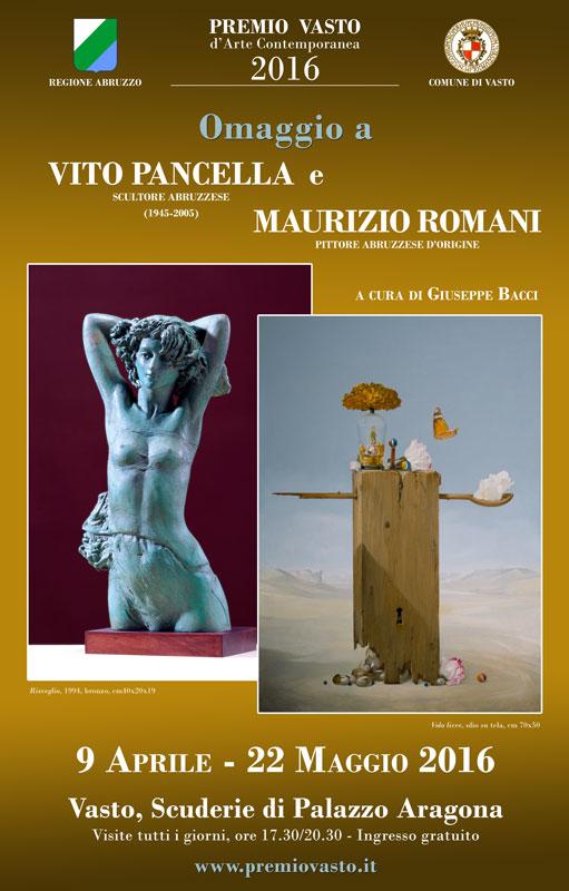 vito pancella, maurizio romani, arte, scultura, premio vasto