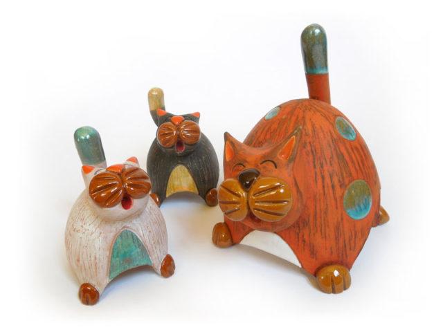 Campanelle in ceramica. I gatti