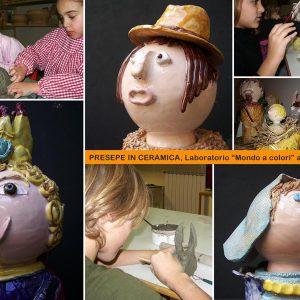 Presepe in ceramica realizzato dai bambini del laboratorio ArtiBus di Vasto