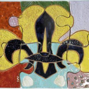 Puzzle in ceramica. L'Agesci festeggia 50 anni di scoutismo a Vasto.