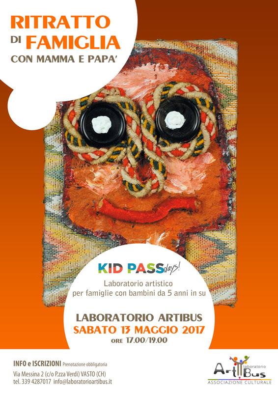 Ritratto di famiglia con il Laboratorio Artibus per Kid Pass days a Vasto, Abruzzo