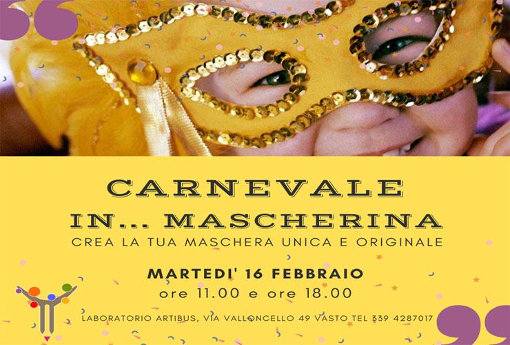 Carnevale in mascherina da ArtiBus a Vasto